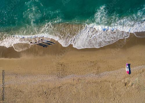 Fotografering Nadadores y el Mar, Vista aérea