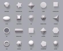 Hexagonal Realistic 3D Shapes....
