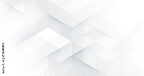 Fotografía Abstract white monochrome vector background, for design brochure, website, flyer