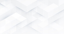 Abstract White Monochrome Vector Background, For Design Brochure, Website, Flyer. Geometric White Wallpaper For Certificate, Presentation, Landing Page