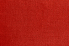 Dark Red Linen Fabric Cloth Texture Background, Seamless Pattern Of Natural Textile.