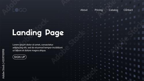 Valokuva Landing page minimal template