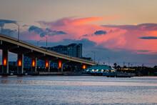 Bridge Over River With Buildin...