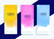 Set of modern business banners.Stylish set of three banners in different colors.Modern vibrant banners set .Professional roll up stand banner template design.Three wavy web banners header.Modern web