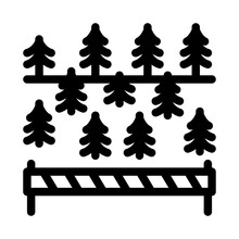 Overlapped Forest Icon Vector....