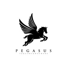 Horse Pegasus Logo Design Template