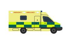 UK Ambulance Icon. Clipart Image Isolated On White Background