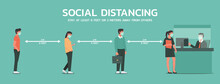 People Maintain Social Distanc...