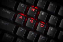 WASD Keys Light Up In Red On C...