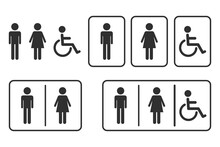 Male And Female Toilet Icon. D...