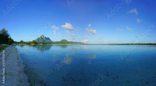 View of the Mont Otemanu mountain in Bora Bora, French Polynesia, South Pacific Canvas Print