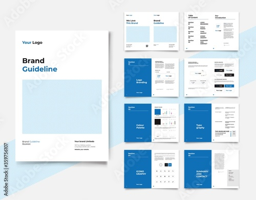 Photo Brand Identity Guideline Template Brand Style Guide Brochure Layout Brand Book