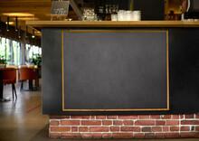 Blackboard Menu With Easel On ...