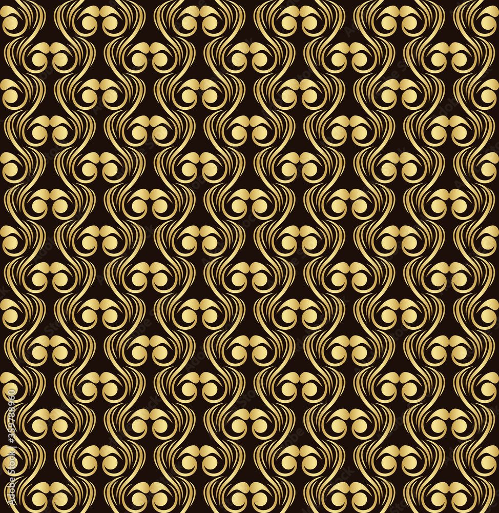 flowers seamless pattern golden  luxury pattern gold texture vector