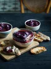 Duck Liver Mousse With Black C...