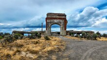 Ruins Of A Ghost Town In Rural Nevada