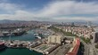 Timelapse of harbour and La Barceloneta, Barcelona, Spain