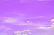 canvas print picture - White clouds in the purple sky in the morning