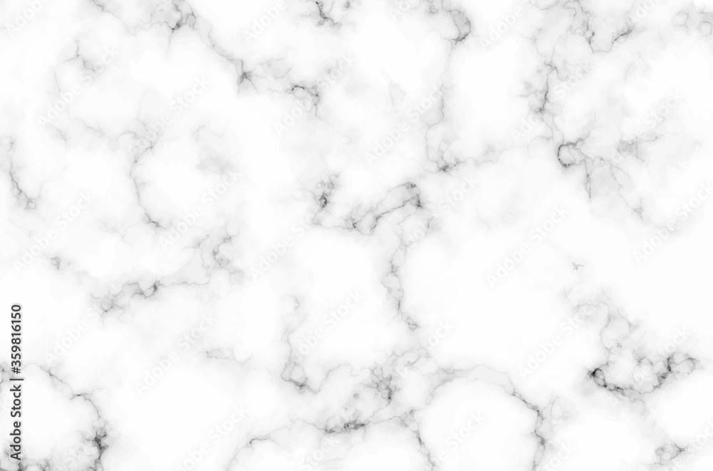 Fototapeta white marble texture background. grey granite floor pattern vector illustration