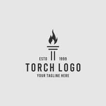 Initial Letter T Torch Fire Fl...