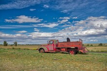 Antique Red Truck. Shaniko, Or...