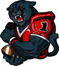 Panther Football Player Mascot...