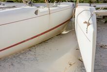Catamaran Standing On The Sand