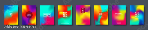 Fototapeta Abstract modern design background. Colorful neon gradient. Dynamic northern lights colors. Eps10 vector. obraz