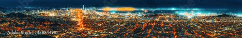 Panoramic view of the San Francisco city. Wallpaper Mural