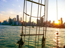 Chicago Skyline At Sunset From...