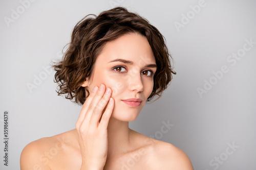 Portrait of lovely pretty charming girl have skin care plastic surgery procedure Fototapeta