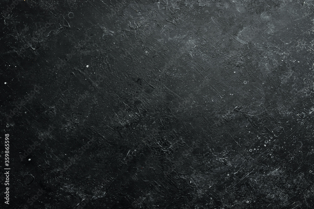 Fototapeta Black stone background. Free space for your text. Top view. Rustic style.