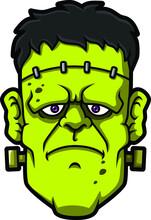 Vector Cartoon Green Frankenst...