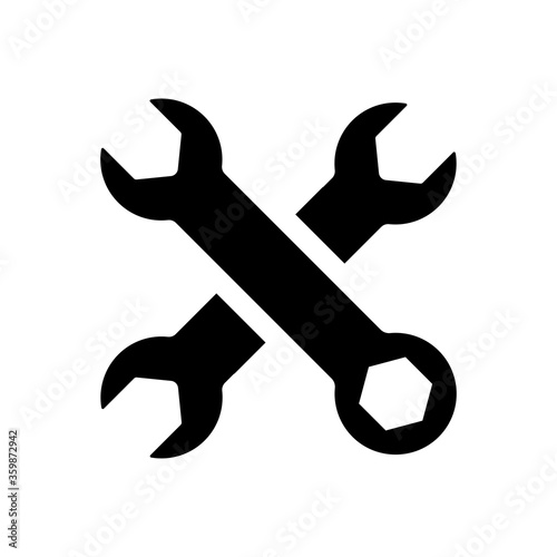 Fotomural Cross wrench icon