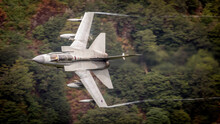 RAF (Royal Air Force) Panavia Tornado GR4 Fighter Bomber And Reconnaissance Jet Flying Low Level In The UK, Cumbria, Wales And Scotland.