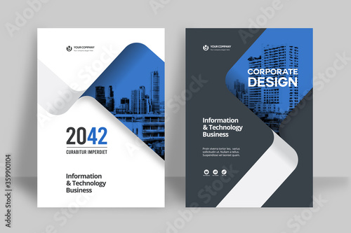 Valokuva City Background Business Book Cover Design Template