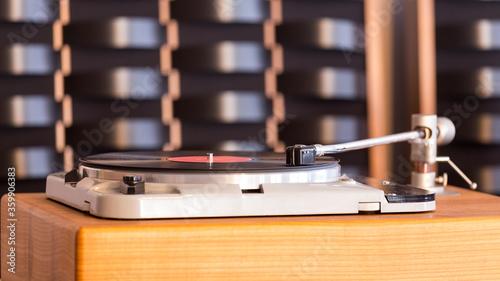 Photo Tonearm of the hi-fi gramophone
