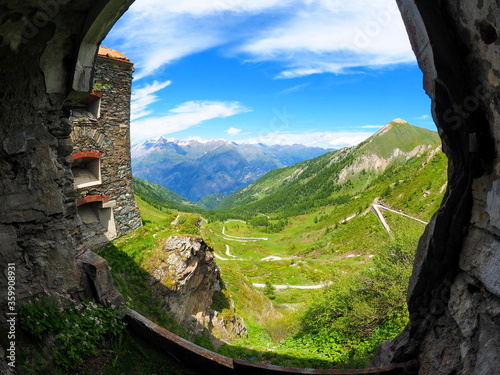 fort du finestre, colle delle finestre, piémont, italie Wallpaper Mural