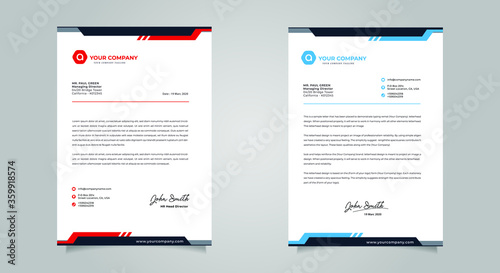 Obraz na plátne Abstract Letterhead Design Modern Business Letterhead Design Template