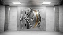 Bank Vault 3D Rendering.
