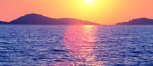 Colorful Sunset Over Adriatic ...