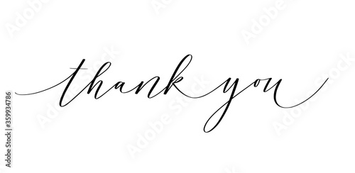 Photo Thank you ink pen modern classy calligraphy design