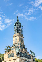 Niederwalddenkmal, A Monument Built In 1883 To Commemorate The Unification Of Germany. Niederwald Near Rudesheim Am Rhein