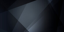 Dark Black Triangle Abstract P...