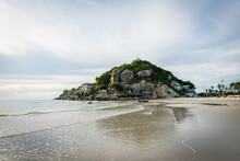 Seascape Of Khao Takiab Beach At Hua Hin In Prachuap Khiri Khan, Thailand