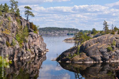 Fototapeta Views of Ladoga skerries in Karelia