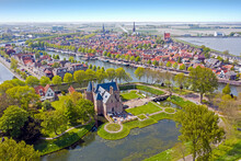 Aerial From The Town Medemblikin The Netherlands
