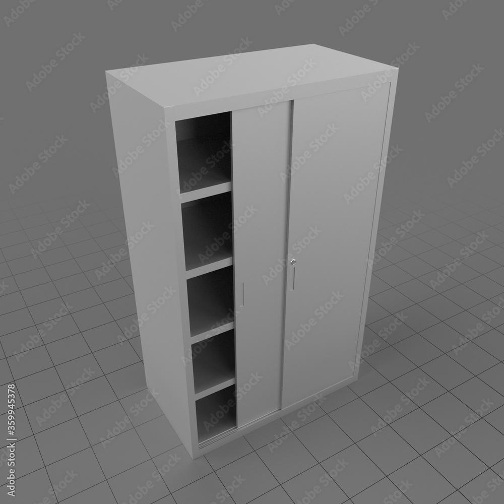 Fototapeta Office cabinet with sliding doors