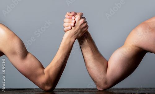 Arm wrestling Canvas Print