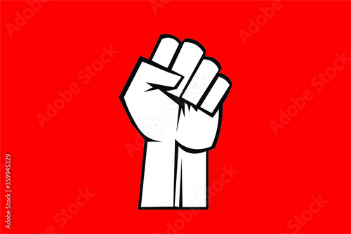 Valokuva Fist male hand, proletarian protest symbol. Power sign.